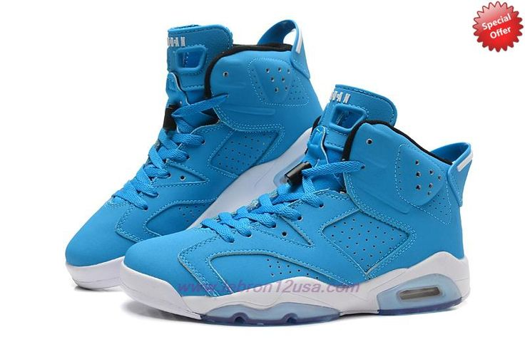 Buy Mens-Womens 205335-484 AIR JORDAN 6 RETRO Blue/White | NBA Cheap Shoes | Pinterest | Air Jordans, Air Jordan Retro and Jordans