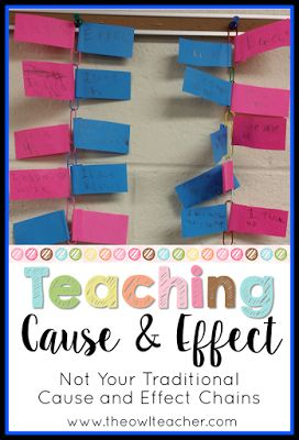 When teaching reading (or any subject area), you always have to approach the reading skill of cause and effect.  It's a difficult concept for students!  Check out these activities and ideas to help your students learn about cause and effect!