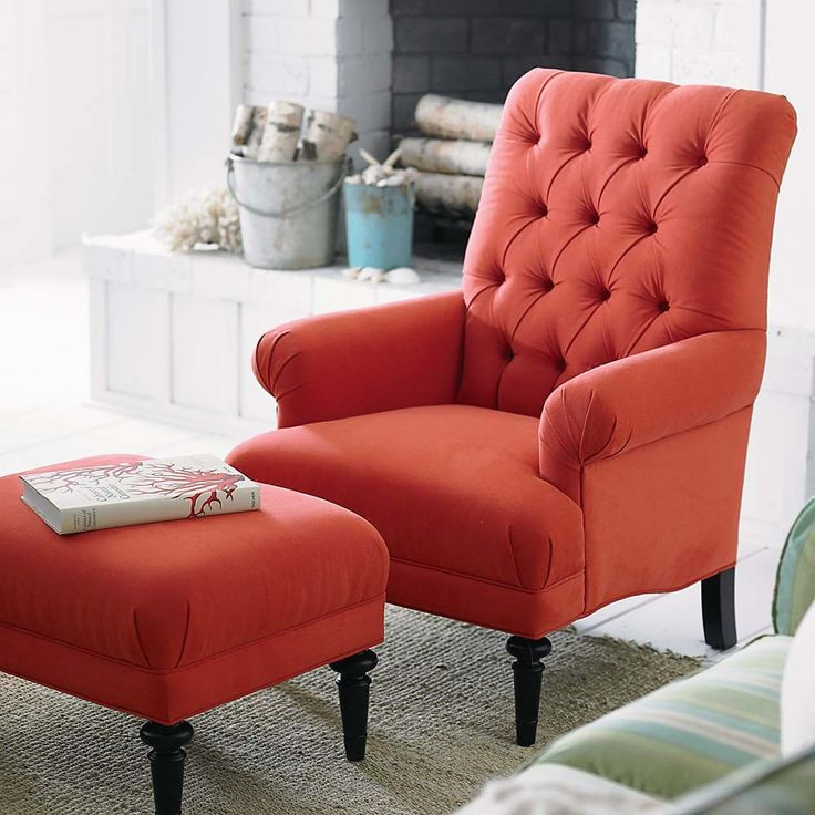 Red Accent Chairs For Living Room - Red And White Accent Chair Winda 7 Furniture