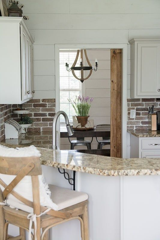 Update your kitchen with an Easy DIY Brick Backsplash! This