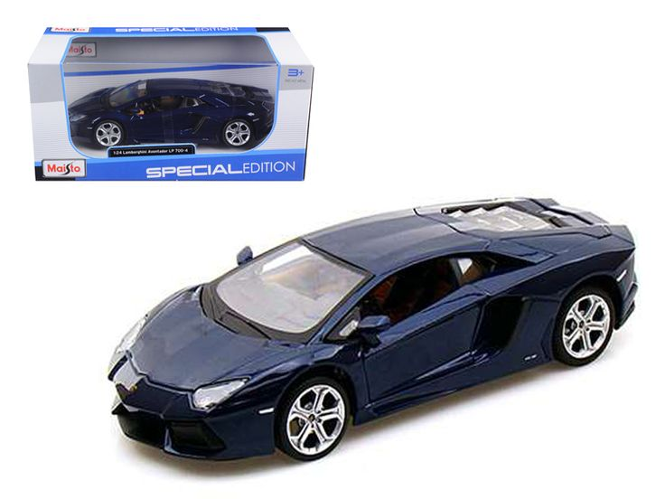 2011 2012 Lamborghini Aventador LP700-4 Blue 1/24 Diecast Model Car by Maisto - Brand new 1:24 scale diecast model car of Lamborghini Aventador LP700-4 Blue die cast car model by Maisto. Brand new box. Rubber tires. Made of diecast with some plastic parts. Has opening doors and engine compartment. Detailed interior, exterior, engine compartment. Dimensions approximately L8, W-3, H-2.5 inches. Please note that manufacturer may change packing box at anytime. Product will stay exactly the…