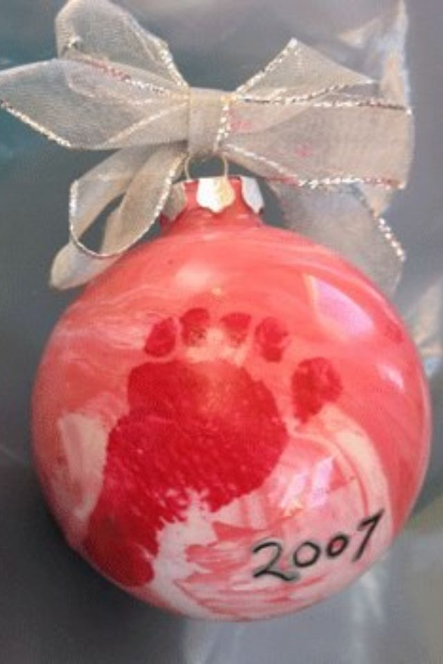 Newborn Christmas Footprint