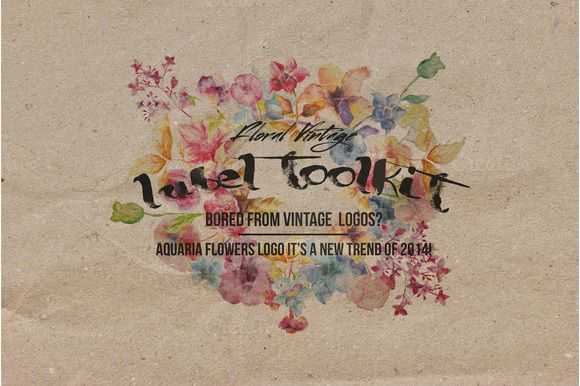 Check out Trendy Vintage Floral Labels Toolkit by sergio zest on Creative Market