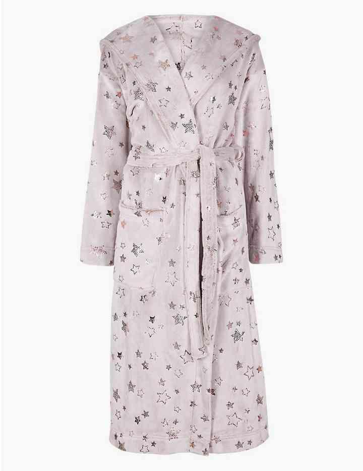 Fleece Star Print Dressing Gown  123c7ddb7
