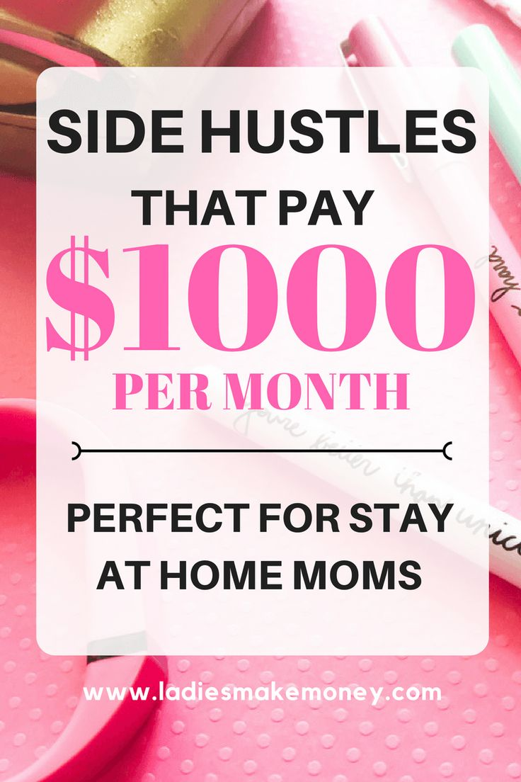 Perfect side hustles to make money from home as a stay at home mom. make money from home mom. #makemoney #startablog. The perfect side hustle for female entrepreneurs. ways to make money from home. Check out these money making ideas. They're perfect for stay at home moms, or moms looking to work make some quick cash.