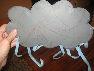 Rain cloud with beans inside to sound like rain....and other rain and rainbow projects
