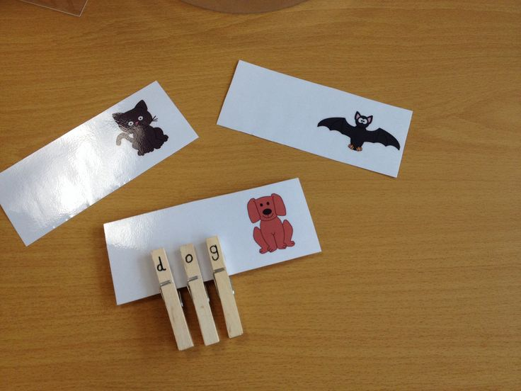 CVC / initial sound peg to picture match. Early years activity.