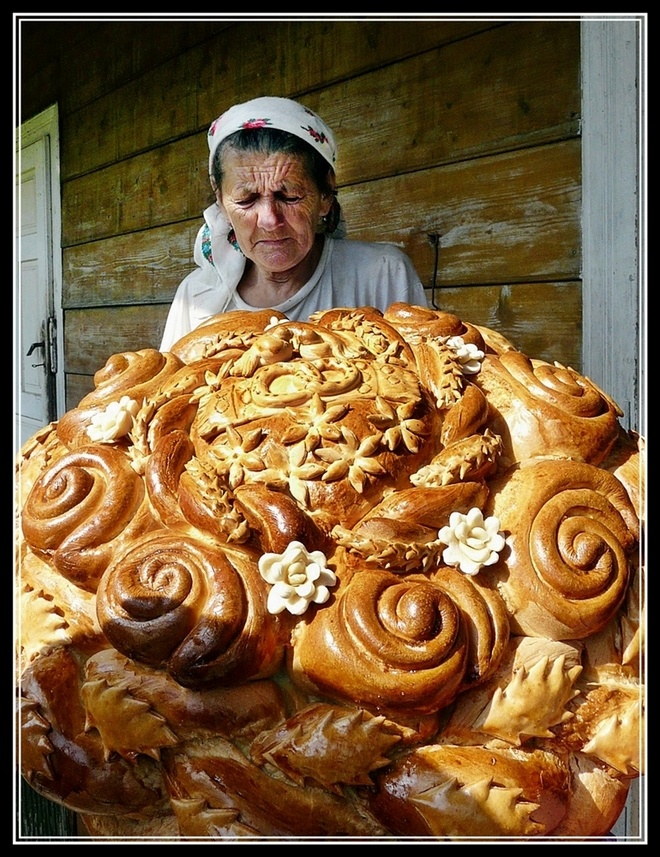 For a Polish wedding it is traditional to make a decorative, complex bread that symbolises abundance and plenty.