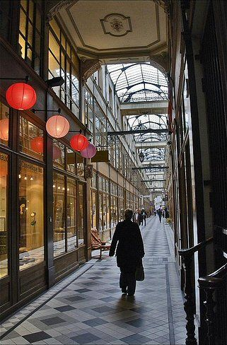 Passage du Grand-Cerf, Paris  Le Pas Sage (the naughty boy) is a funky bar à vin, perfect for a post-shopping tipple. • 145 rue Saint-Denis, 1st arrondissement, metro Etienne Marcel