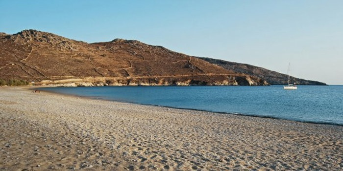 Psili Ammos Beach in Serifos Island, Greece