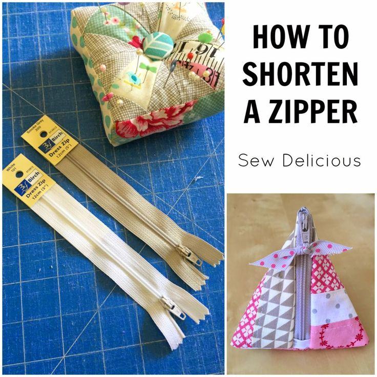 How To Shorten A Zipper - Tutorial - Sew Delicious