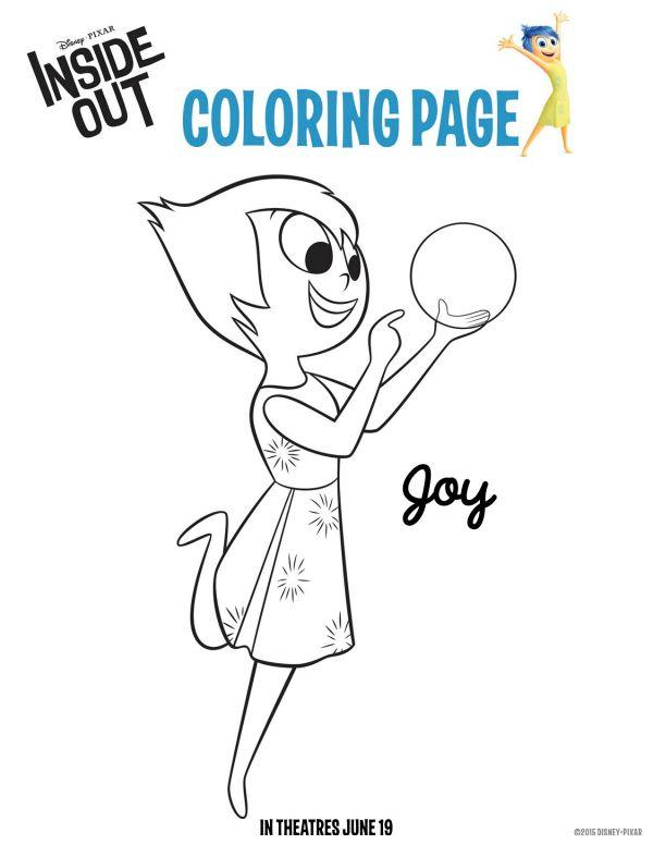 Disney Pixar Free Printable Inside Out Joy Coloring Sheet