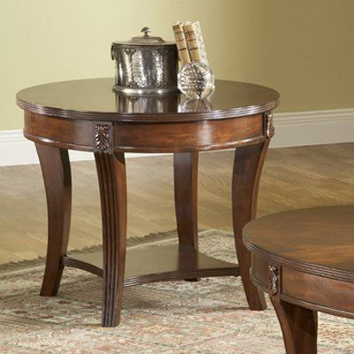 bernards wellington cherry round end table atg stores