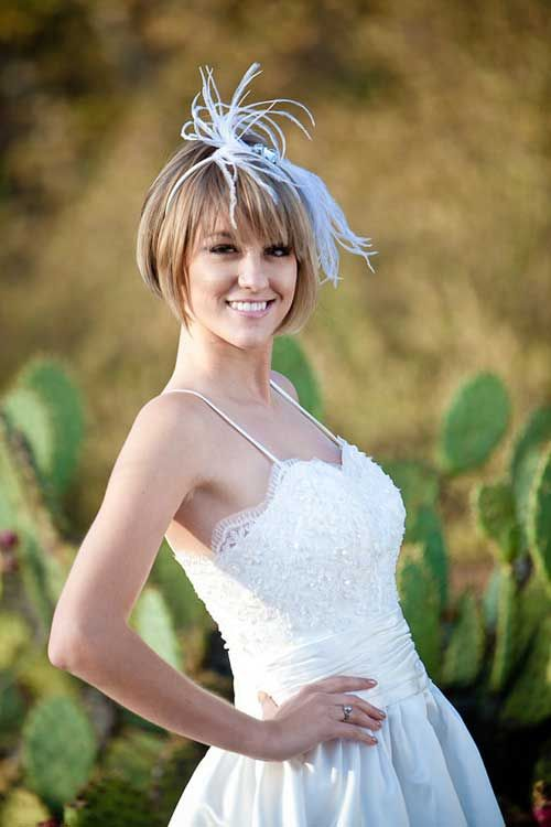 Short straight wedding hairstyles