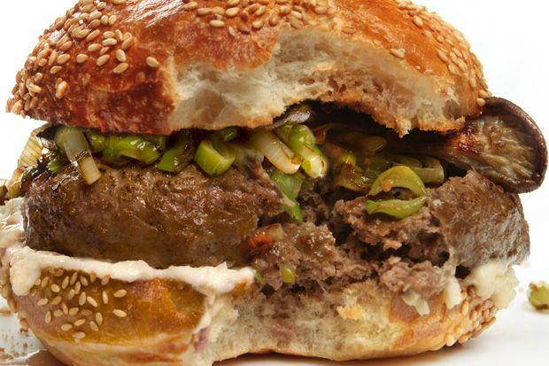 tasty bison burger.....expensive tasty bison burger....up to between 9-10 bucks a lb.....crazy..