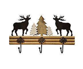Вешалка - дерево - коричневый - черный - Д40 х Ш23