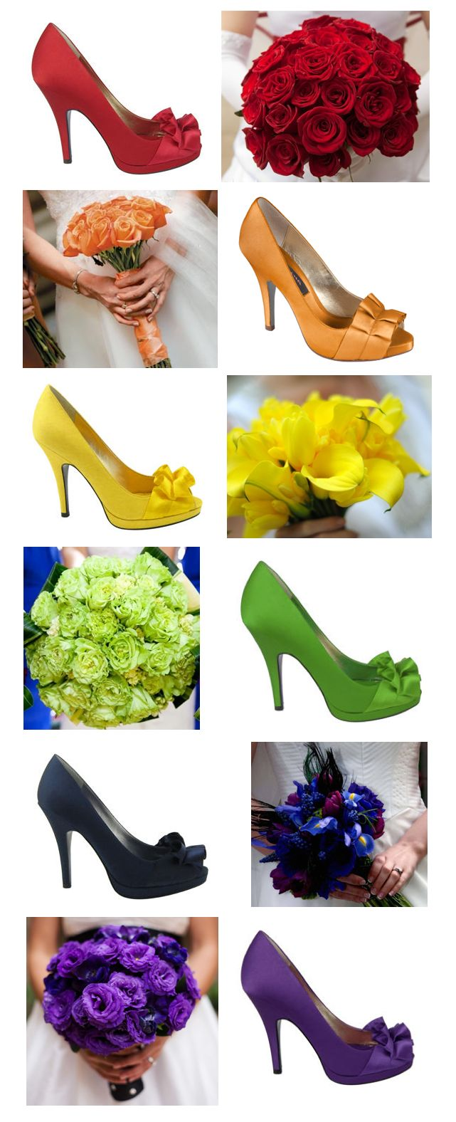 look at these fun shoes for brides maids, who says you have to stick to just plain!!!