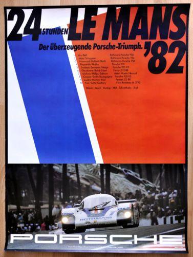 orginal-Porsche-Plakat-Renn-Poster-034-Le-Mans-034-1982-Rothmans-Porsche-956