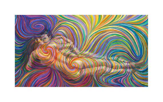 Reclining Lovers Print By Energy Artist di energyjewelrystore