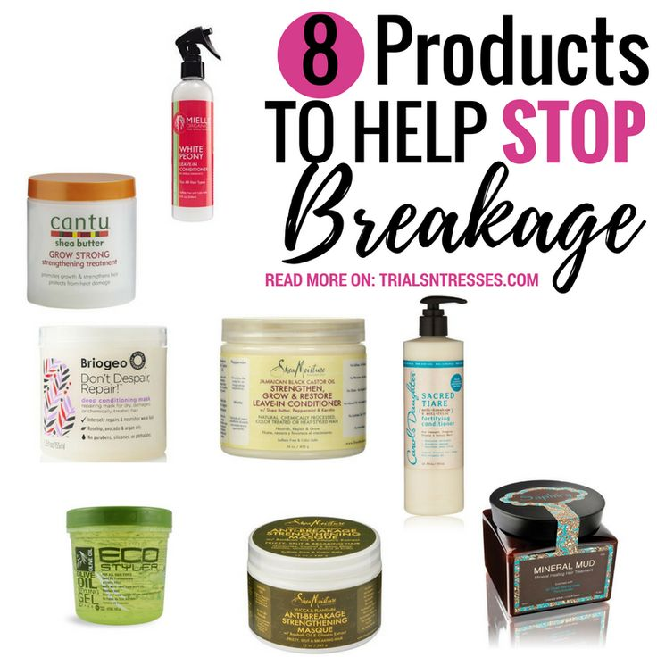 Here are 8 products to help stop breakage & put your hair in order. Your hair is your crown & when its not acting right you have to get it back on track.