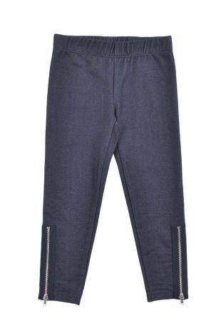 Pantalón tipo leggings para niña, en color azul denim. Cintura elastizada.