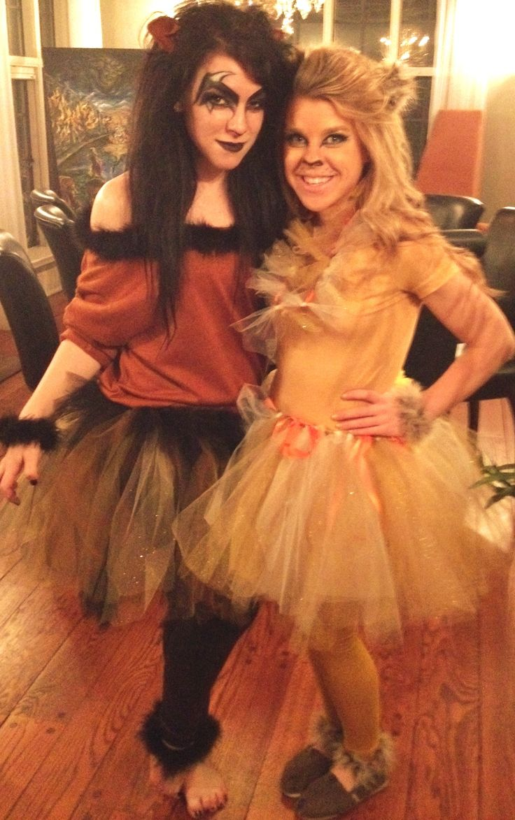 Scar and Mufasa female costumes, handmade DIY