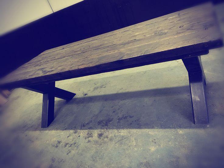 XXL tafel in blackwash
