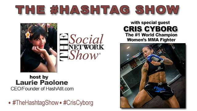 Listen now to Episode 3 of #TheHashtagShow with special guest the #1 Women's World Champion MMA Fighter #CrisCyborg  We at #HashAtIt are a huge fan of Cris Cyborg. We talk to Cyborg about EVERYTHING and she holds nothing back! Find out how she got into MMA, she updates us on her injury, what weight class she will fight in next, her thoughts on #RondaRousey , also our favorite #HASHTAGS and much much more!  To listen click here ==> http://thesocialnetworkstation.com/shows/the-hashtag-show/