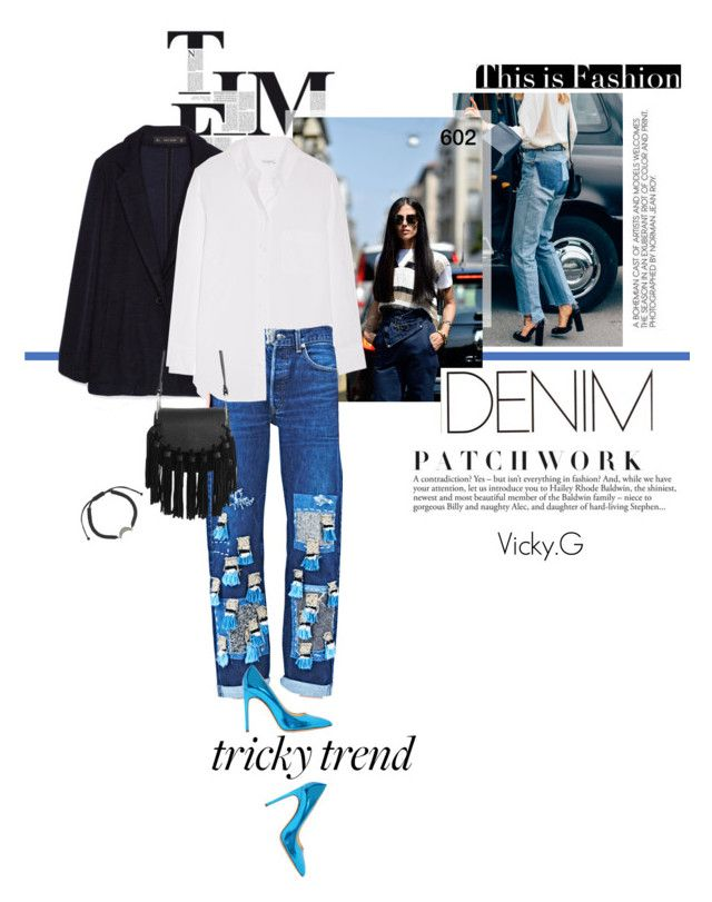 """""""Set # 602 / Tricky Trend: Patchwork Denim"""" by vassiliki-g ❤ liked on Polyvore featuring Candela, Zara, Equipment, The Autonomous Collections, IaM by Ileana Makri, TrickyTrend, casual, contestentry, patchworkdenim and fallfashion"""