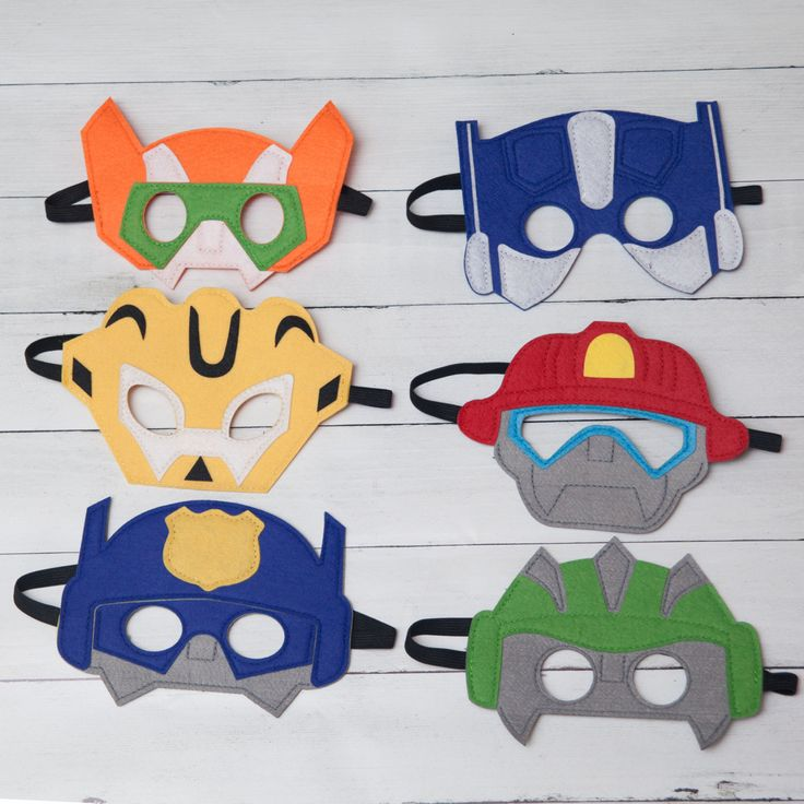 These felt Transformers Rescue Bots masks make the perfect party favor for guests or a perfect addition to any kids dress up box! Please leave a note with party/event date at checkout. Choose from: Blades Chase Heatwave Boulder Prime Bee Party Pack 10 Masks (discounted)- Leave note at