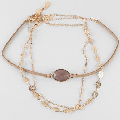SHOP Bohemian layered gold choker