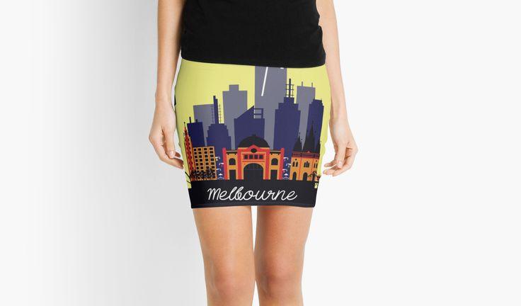 Lovely Melbourne by jollybirddesign #lovely #melbourne #skirt