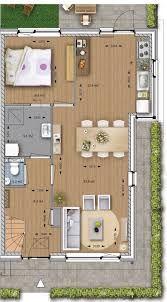 Afbeeldingsresultaat voor plattegrond schuurwoning met slaapkamer beneden