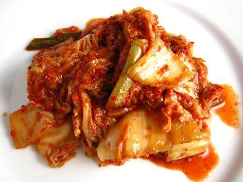 Kimchi! Napa cabbage.
