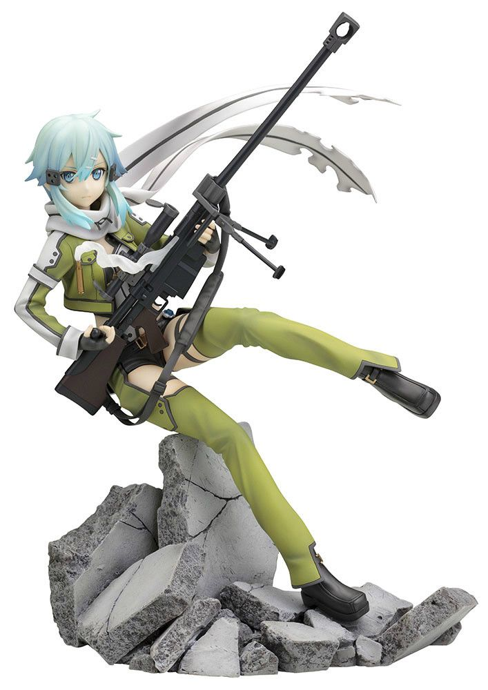 Limited-time offer! Get FREE shipping worldwide on pre-order items! The free shipping makes it a great buy! Now is your only chance!   Offer Ends: August 2, 2014   Sinon, or Shino Asada as she's known in the real world, first appears at the beginning of the currently airing second season of the hit anime Sword Art Online as a crack shot sniper in the new online game Gun Gale Online which Ki...