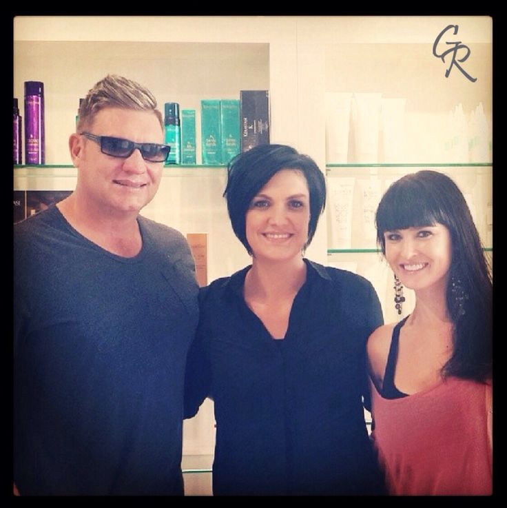 Kurt Darren and his stunning wife, Dunay! Artistic Director, Lizanne from Southdowns @garyromhair seen here in the middle