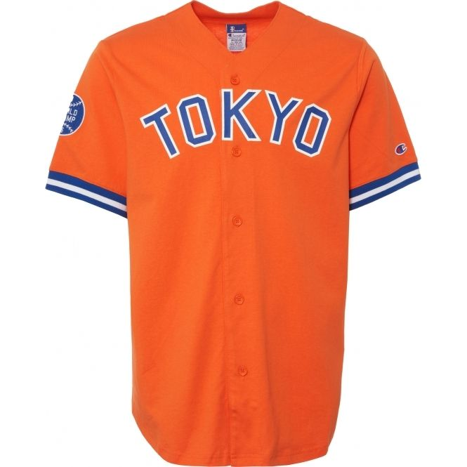 25a3d347fa CHAMPION X BEAMS Baseball Jersey - Orange