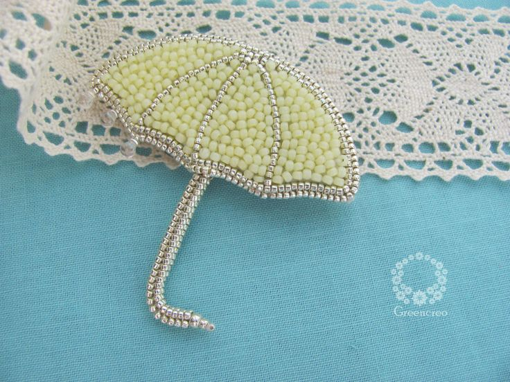 Umbrella brooch by Greencreo on Etsy
