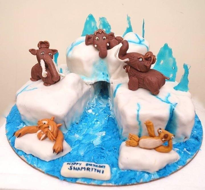 ice age themed cake  cakesushma rajan cake affairs