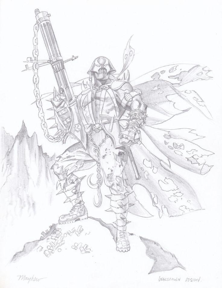 Mike Mayhew - WW2 Spawn - Character Design Comic Art