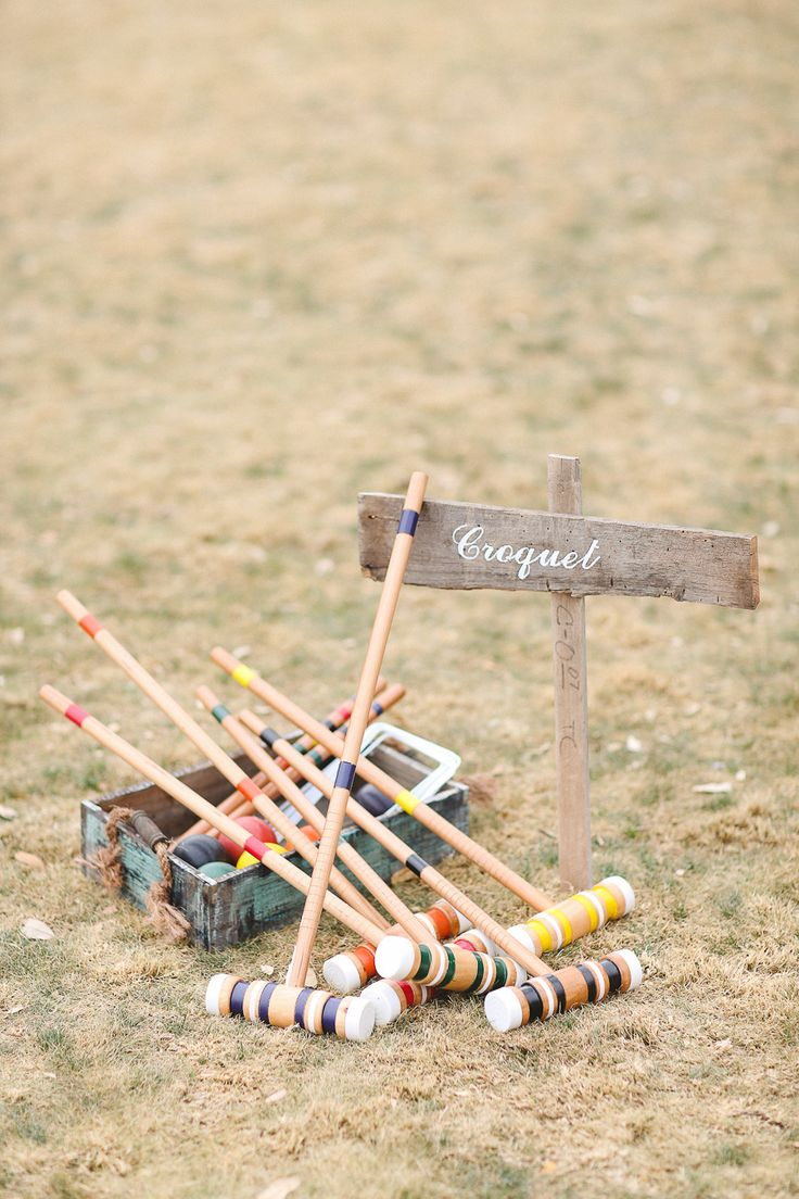 Croquet at the wedding