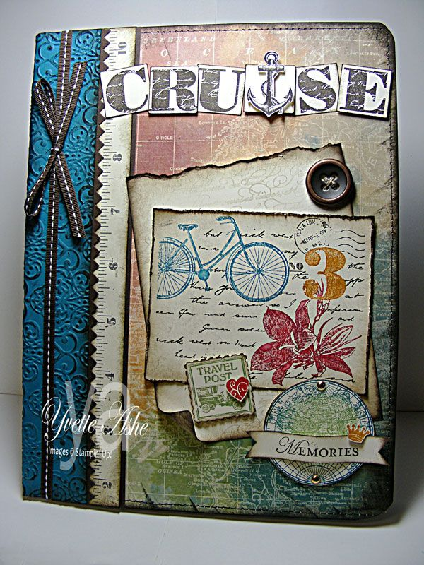 make your own travel journal: supplies and instructions for turning an ordinary composition notebook into a family treasure. Cruise-Memories-Altered-Composition Notebook