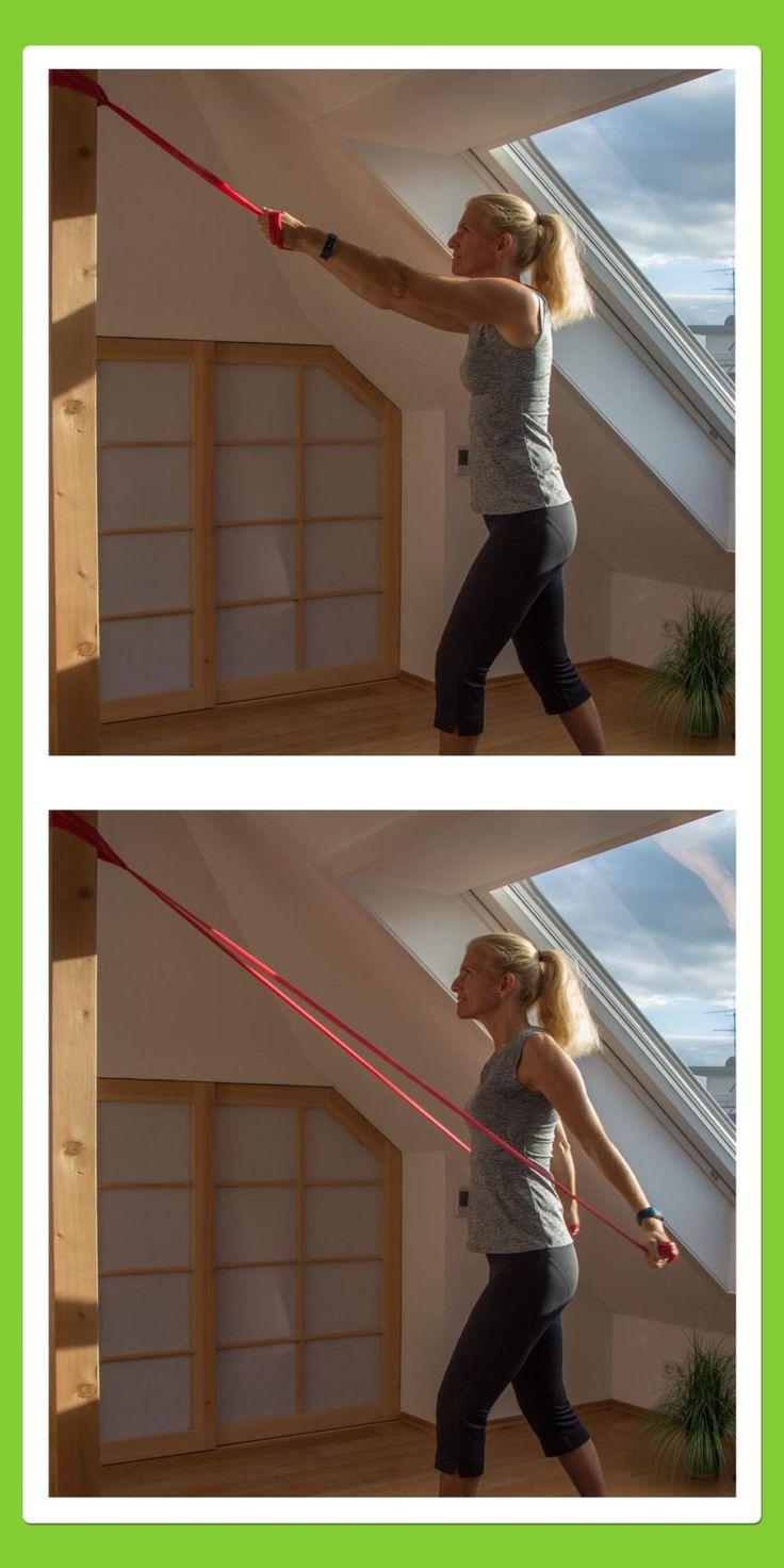 Rücken Übungen gegen Rückenschmerzen für den Rücken: Rückenzug abwärts