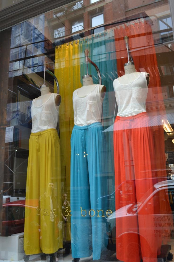 Spring store windows at Rag & Bone, new york city