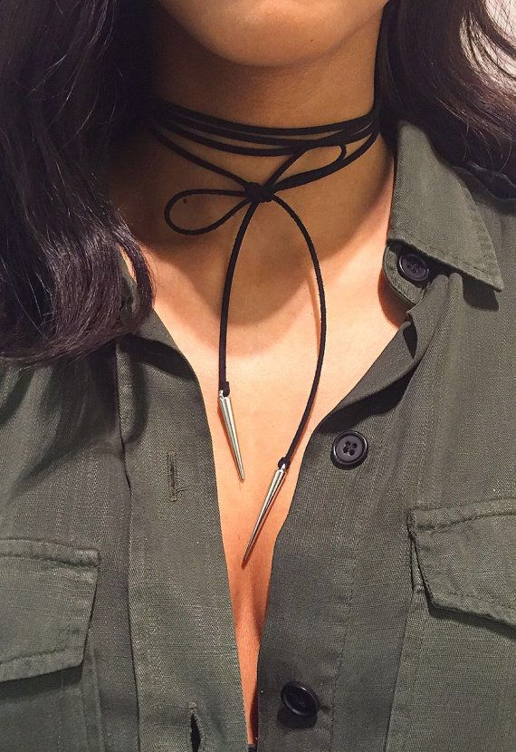 Suede Wrap Choker Necklace - ☽ pinterest: charlottegrac3 ☾