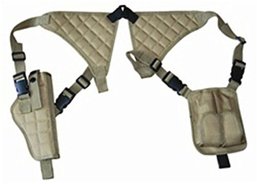 Ultimate Arms Gear Tan Camouflage Universal Vertical Ambidextrous High Quality Shoulder Holster, Fits Sig Sauer Pistols