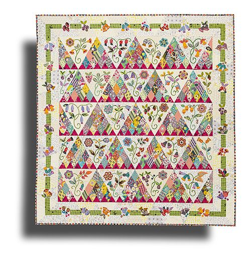 Sweet Surrender quilt by Sue Cody.  2015 BOM at Material Obsession.