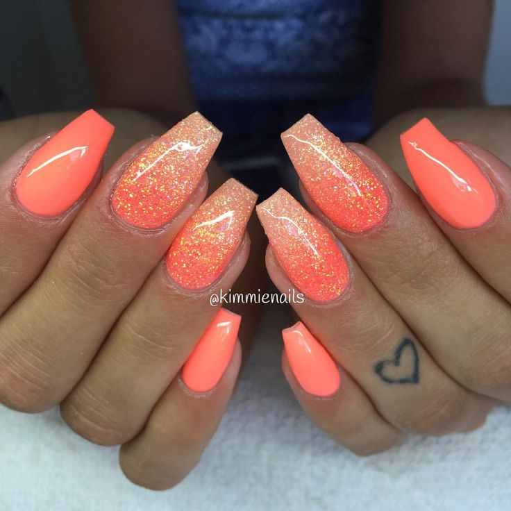 Pin by Shannon Lucero 💋 on Nails - The 25+ Best Coral Gel Nails Ideas On Pinterest Bright Summer