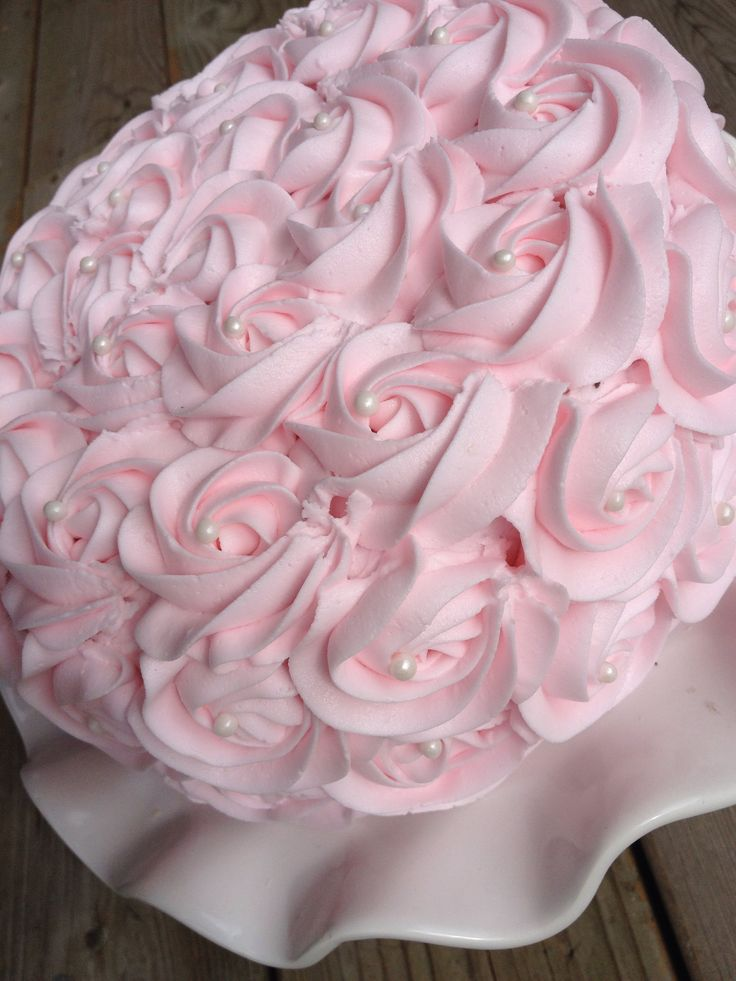 Cake Decorating Rosettes : 452 best images about Rosette Cakes on Pinterest Birthday cakes, Pink rose cake and Ombre