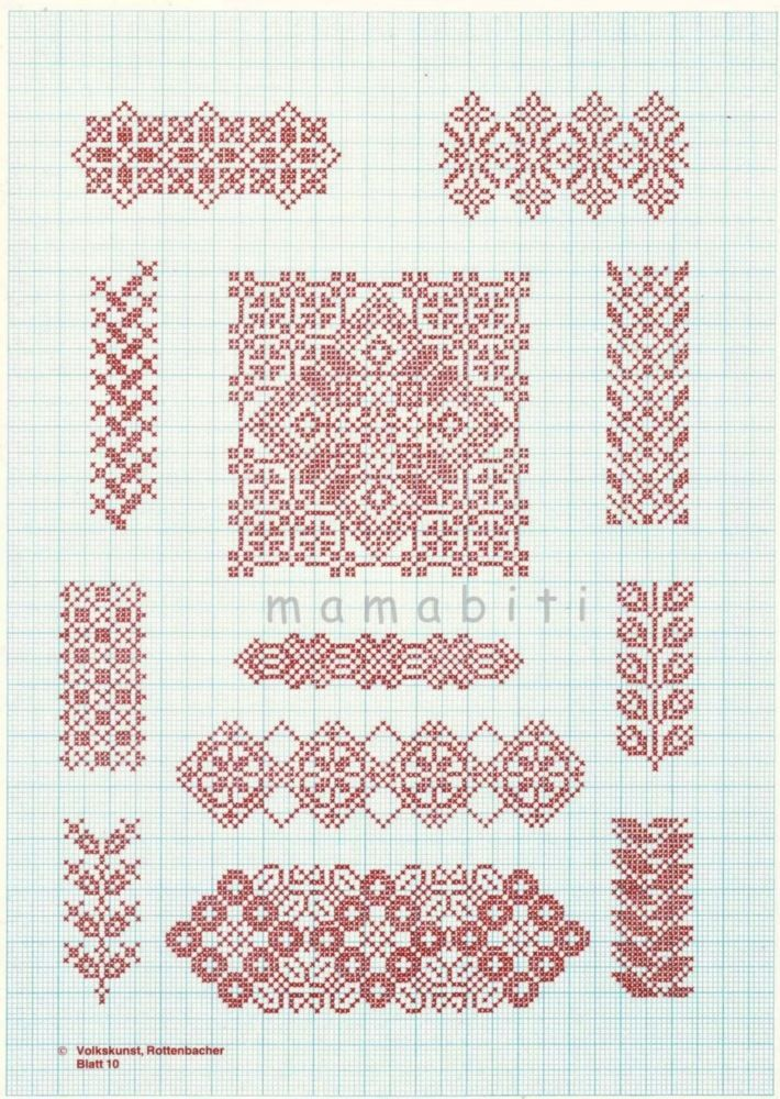 Cross stitch  *♥* Point de croix Monochrome